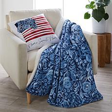 Sara B. Floral Flag Pillow & Throw Set