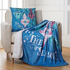 Sara B. Vintage Ornament Pillow & Throw Set