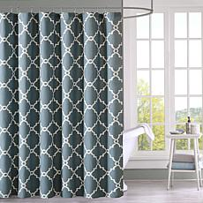 blue and gray shower curtain. Saratoga Geometric Shower Curtain  Blue 72 Curtains HSN