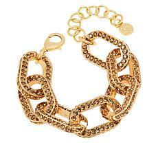 "Sassy Jones Pavé Crystal Kerri Link 8-1/4"" Bracelet"