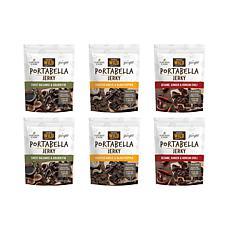 Savory Wild Portabella Mushroom Jerky Variety 6-Pack