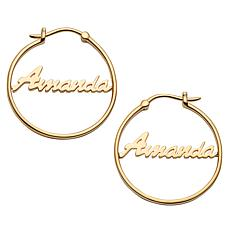 Script Name Small 25mm Hoop Earrings