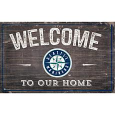 Seattle Mariners 11x19 Welcome to our Home Sign