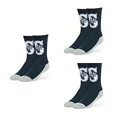 Seattle Mariners MLB 3-Pack Arena Crew Socks