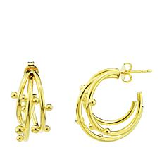 Séchic Globes 14K Yellow Gold Triple Twist Hoop Earrings