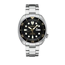 Seiko Men's Automatic Stainless Steel Black Dial Dive Watch