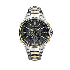 Seiko Men's Coutura 2-Tone Radio Sync Solar-Powered Chronograph Watch