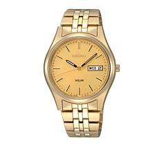 Seiko Men's Goldtone Stainless Steel Solar Watch