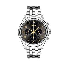 Seiko Men's Gray Dial Chronograph Bracelet Watch