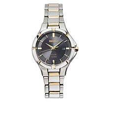 Seiko Women's 2-tone Black Dial Solar-Powered Bracelet Watch