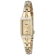Seiko Women's Goldtone Stainless Steel Rectangular Case Watch