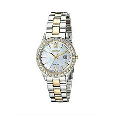 Seiko Women's Two-Tone Stainless Steel Crystal Solar Watch