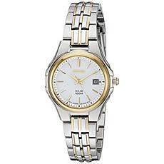 Seiko Women's Two-Tone Stainless Steel Date Window Bracelet Watch