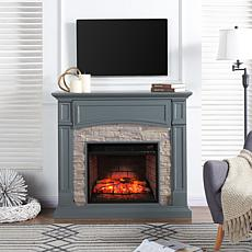 Seneca Media Infrared Fireplace - Gray