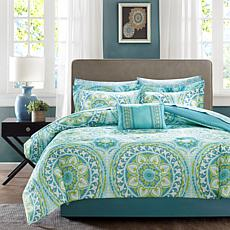 Serenity Cal King 9pc Complete Bed and Sheet Set - Aqua