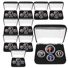 Set of 10 Donald Trump 45th President Coin Collections