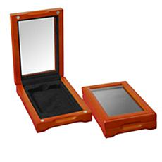 Set of 2 Oak Display Boxes for Slabbed Coins