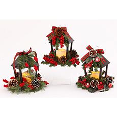 Set of 3 Battery-Operated Holiday Lanterns