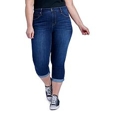 Seven7 High-Rise Roll Skinny Cropped Jean - Newport