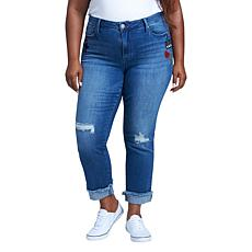 Seven7 Mid-Rise Slim Straight Jean with Sequins - Reeves