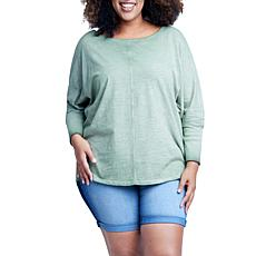 Seven7 Ribbed Cuff Dolman - Oil Green