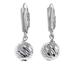Sevilla Silver™ 10mm Diamond-Cut Bead Drop Earrings