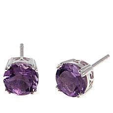Sevilla Silver™ 2.5ctw Round Amethyst Stud Earrings