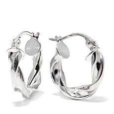 "Sevilla Silver™ 3/4"" Diameter Twisted Hoop Earrings"