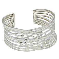 Sevilla Silver™ Abstract Crisscross Cuff Bracelet