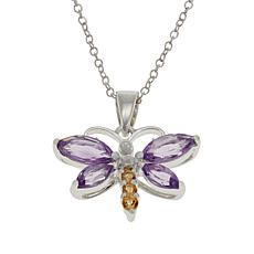 Sevilla Silver™ Amethyst and Citrine Butterfly Pendant
