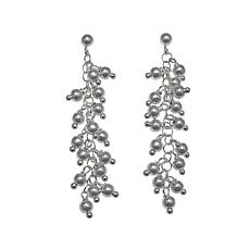 Sevilla Silver™ Bead Cluster Drop Earrings