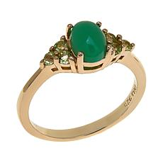 Sevilla Silver™ Chrysoprase and Peridot Ring