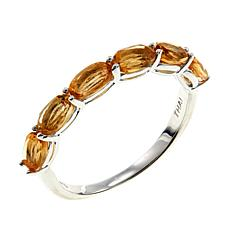 Sevilla Silver™ Citrine 6-Stone Stackable Band Ring