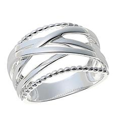Sevilla Silver™ Crisscross Band Ring