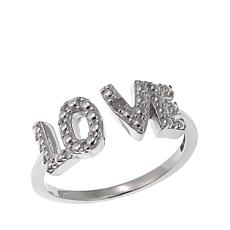 "Sevilla Silver™ Diamond-Accent Open Shank ""LOVE"" Ring"