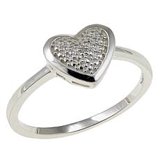 Sevilla Silver™ Diamond-Accented Heart Ring