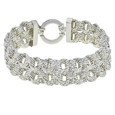 Sevilla Silver™ Diamond-Cut Layered Rolo Link Bracelet
