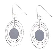 "Sevilla Silver™ Diamond-Cut ""Orbital"" Drop Earrings"