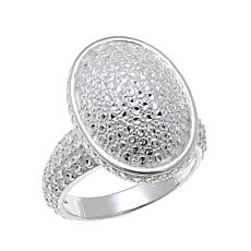 Sevilla Silver™ Diamond-Pressed Oval Ring