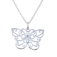 Sevilla Silver™ Filigree Butterfly Pendant with Chain