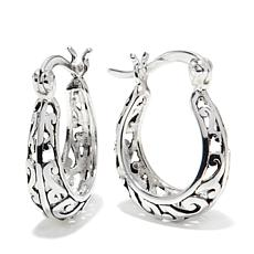 Sevilla Silver™ Filigree Hoop Earrings
