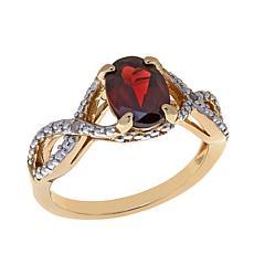 Sevilla Silver™ Garnet Diamond-Accented Ring