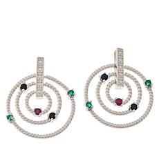 Sevilla Silver™ Gemstone Multi Circle Drop Earrings