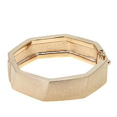 Sevilla Silver™ Geometric Satin Finish Hinged Bangle