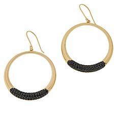 Sevilla Silver™ Gold-Plated Gemstone Circle Dangle Earrings