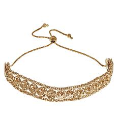 Sevilla Silver™ Gold-Plated Rosetta/Popcorn Chain Adjustable Bracelet