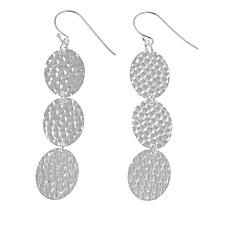 Sevilla Silver™ Hammered 3-Station Drop Earrings