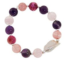 Jewelry & Watches Ingenious Hsn White Calcite Faceted Stretch Bracelet $75 Comfortable And Easy To Wear Bracelets