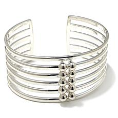 Sevilla Silver™ Multi-Row Beaded Cuff Bracelet