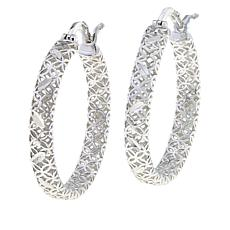 Sevilla Silver™ Small Webbed Hoop Earrings